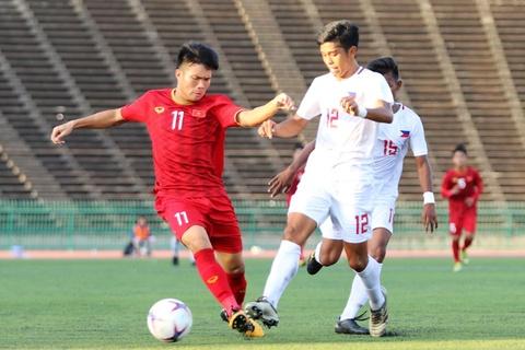 Highlights: U22 Viet Nam 2-1 U22 Philippines hinh anh