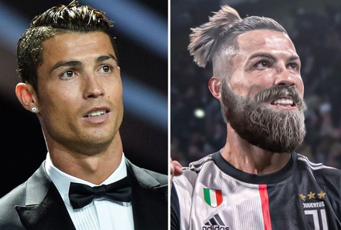 Ve ngoai cua Ronaldo, Mbappe voi bo rau ram hinh anh