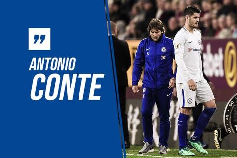 HLV Conte giai thich ly do Morata noi cau khi bi rut ra hinh anh