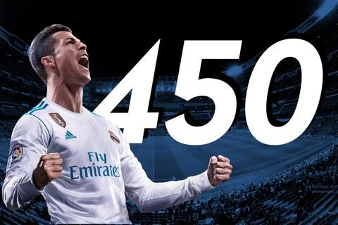 Pha luoi Barca, Ronaldo cham moc 450 ban cho Real Madrid hinh anh