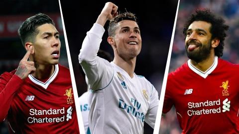 Ronaldo, Salah linh xuong hang cong doi hinh ket hop Real - Liverpool hinh anh 1