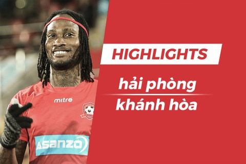 Highlights CLB Hai Phong 3-0 CLB Khanh Hoa: Fagan lap cu dup hinh anh