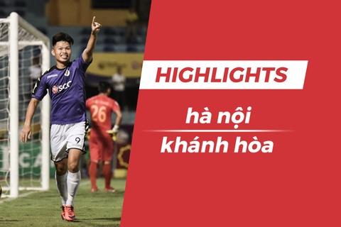 Highlights Quang Hai lap cong, CLB Ha Noi 'de bep' CLB Khanh Hoa hinh anh