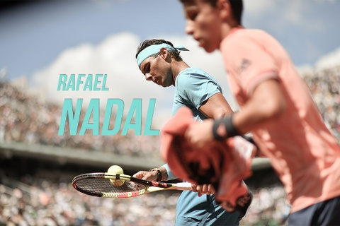 Rafael Nadal gay bat ngo khi 'solo' voi cau be nhat bong hinh anh