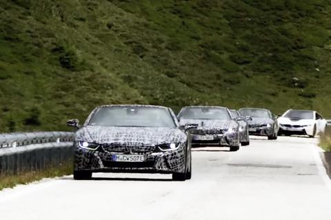 Video teaser BMW i8 Roadster 2018 ma BMW vua cong bo hinh anh