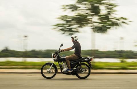 Danh gia Suzuki GD110 - xe con tay co dien gia re tai Viet Nam hinh anh