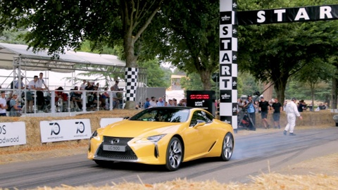 Lexus LC 500 Yellow Edition xuat hien tai Goodwood Festival of Speed hinh anh