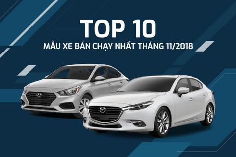 10 ôtô bán chạy ở VN tháng 11 - Toyota Vios lại dẫn đầu