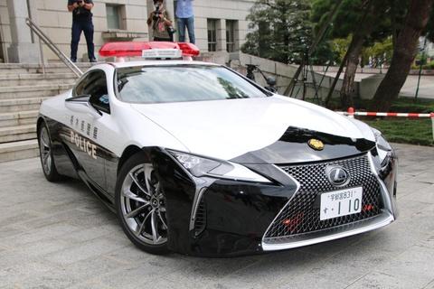 Canh sat Nhat Ban su dung Lexus LC 500 lam xe tuan tra hinh anh