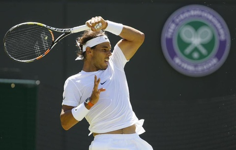 Rafael Nadal co thang loi de dang truoc Dudi Sela tai vong 1 Wimbledon hinh anh