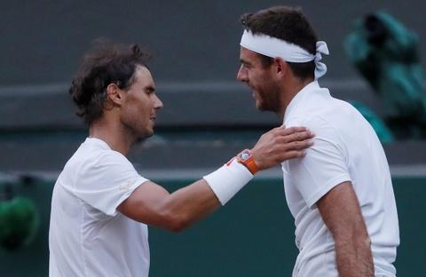 Thang nghet tho Potro, Nadal dai chien Djokovic tai ban ket Wimbledon hinh anh