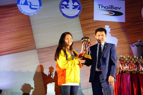Bach Ngoc Thuy Duong vo dich co nhanh U16 the gioi hinh anh