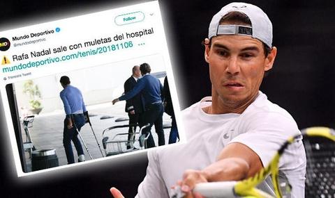 Nadal chong nang roi benh vien sau cuoc phau thuat mat ca chan hinh anh
