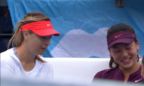 Sharapova gap may truoc tay vot 17 tuoi den tu Trung Quoc hinh anh