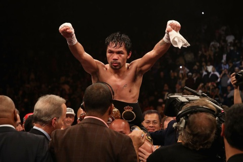 Bao ve thanh cong dai vo dich, Pacquiao thach dau Mayweather hinh anh