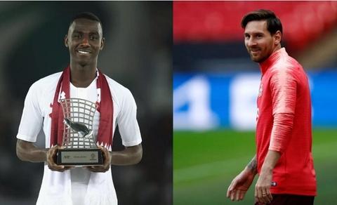 Vua pha luoi Asian Cup nhan mon qua dac biet tu Messi hinh anh