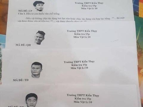 Thay giao Hai Phong dung ten Quang Hai, Tien Dung lam ma de thi Vat ly hinh anh
