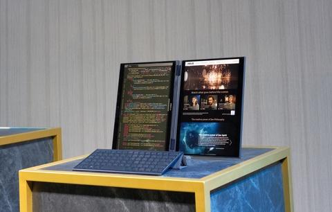 Asus gioi thieu concept laptop 2 man hinh, khong ban phim hinh anh 2