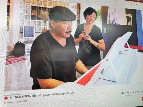 Nhieu kenh YouTube dang tin gia nhac si Tran Tien qua doi hinh anh