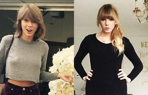 Ban sao Taylor Swift bi bat nat vi beo hon than tuong hinh anh