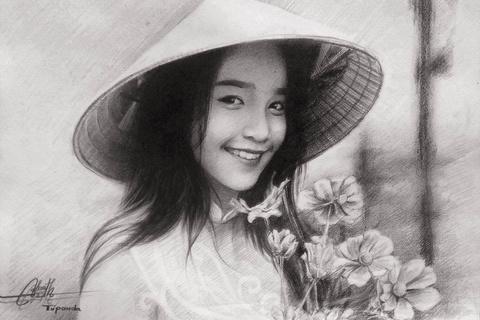 9X Lai Chau ve tranh chan dung song dong nhu that hinh anh 8