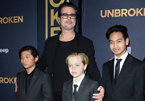 Brad Pitt don sinh nhat lan thu 55 ben cac con hinh anh