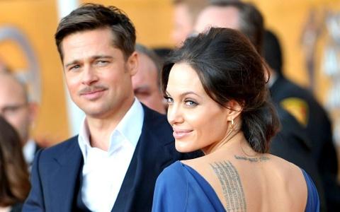 Angelina Jolie va Brad Pitt gap nhau de thoa thuan ly hon hinh anh