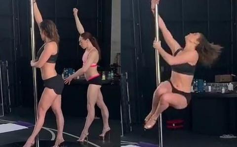 Jennifer Lopez khoe dáng nóng bỏng trong clip múa cột khi gần 50 tuổi