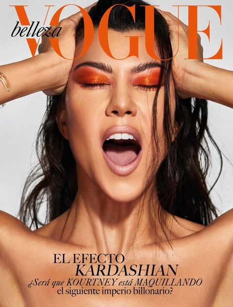 Chi gai Kim Kardashian khoe nguc trong lan dau len bia Vogue hinh anh 1