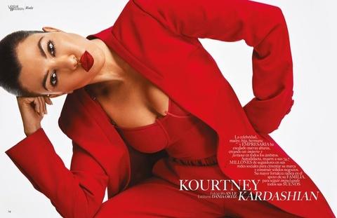 Chi gai Kim Kardashian khoe nguc trong lan dau len bia Vogue hinh anh 4
