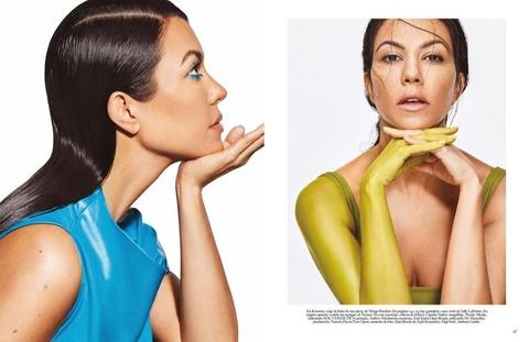 Chi gai Kim Kardashian khoe nguc trong lan dau len bia Vogue hinh anh 7