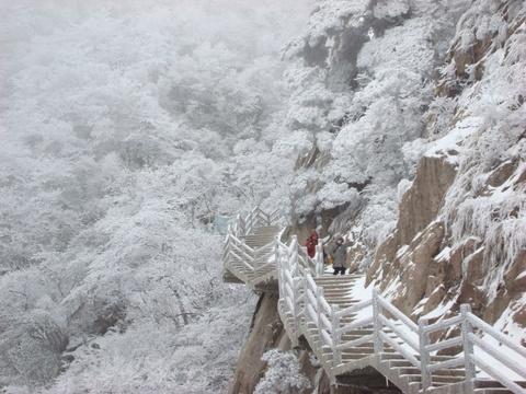 Tien canh dinh Quang Minh noi vo lam quan tu hinh anh 11 Những cành cây, sườn núi đóng băng tạo cảm giác hoang tịch, cô liêu, khiến bạn có cảm giác như đang lạc vào một trang truyện của Kim Dung.