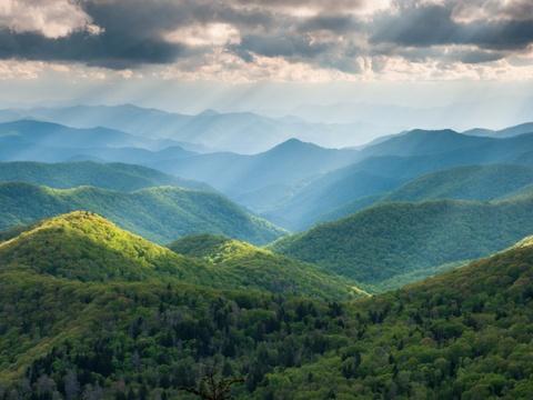 15 ky quan thien nhien tuyet tac o My hinh anh 14 North Carolina: Khu vực dọc đường Blue Ridge qua cao nguyên Appalachia là một trong những vùng có hệ sinh thái đa dạng nhất thế giới, với hơn 1.600 loài thực vật, 54 loài động vật có vú và 159 loài chim.