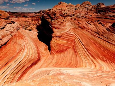 15 ky quan thien nhien tuyet tac o My hinh anh 2 Arizona: Hẻm núi Grand là điểm đến nổi tiếng thế giới của Arizona. Tuy nhiên, bang này còn có khu núi sa thạch The Wave (Con sóng) với khung cảnh ấn tượng do thời gian và sự xói mòn tạo ra.