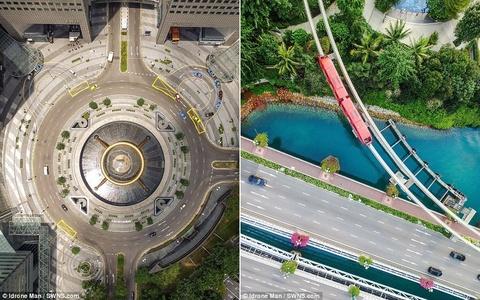 Kien truc an tuong cua Singapore nhin tu tren cao hinh anh 4