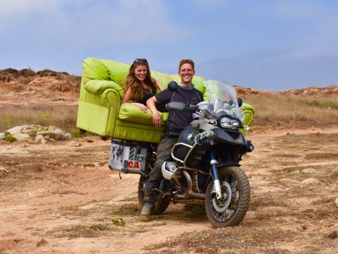 Cap doi chay xe may 40.000 km huong tuan trang mat hinh anh