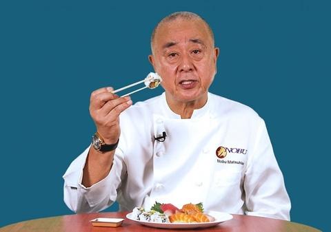 Cach an sushi chuan theo dau bep huyen thoai Nobu Matsuhisa hinh anh