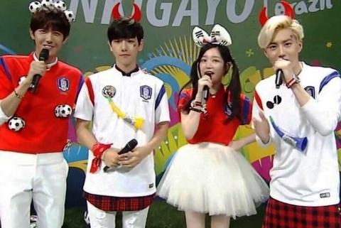 Fan cuong mang Baekhyun (EXO) la ke phan boi tren Inkigayo 22/6 (phut 1:04 - 1:06) hinh anh