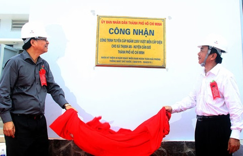 Xa dao duy nhat cua TP HCM co dien luoi quoc gia hinh anh