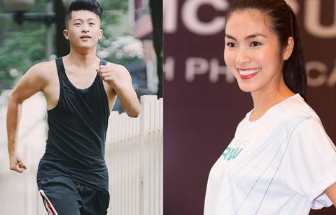 'Ban trai' Hoang Thuy Linh dong hanh cung Ha Tang hinh anh