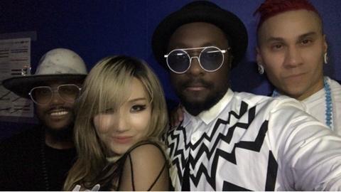 CL (2NE1) xac nhan hop tac nhom Black Eyed Peas sau thoi gian lan dan hinh anh