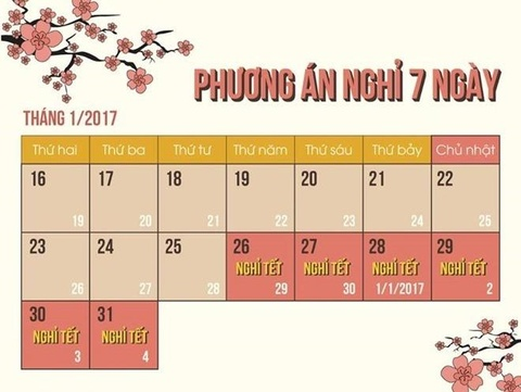 Thu tuong dong y nghi 7 ngay dip Tet Am lich 2017 hinh anh