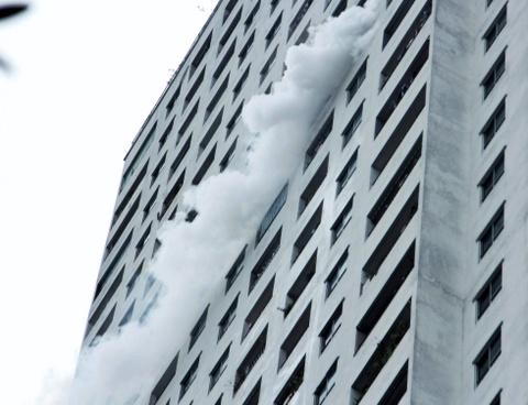 Cháy tại tầng 31 chung cư HH Linh Đàm, 1 người tử vong