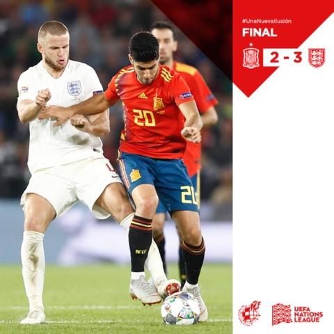 Tay Ban Nha thua Anh 2-3: Hang cong chan go bao hai 'Bo tot' hinh anh 1