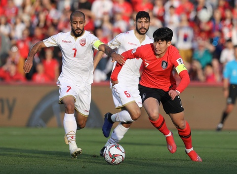 Hàn Quốc vs Bahrain (0-0): Son Heung-min bị kèm chặt
