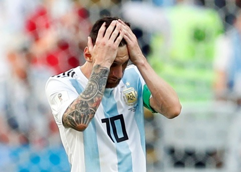 Messi that vong trong ngay Argentina bi loai khoi World Cup hinh anh 8
