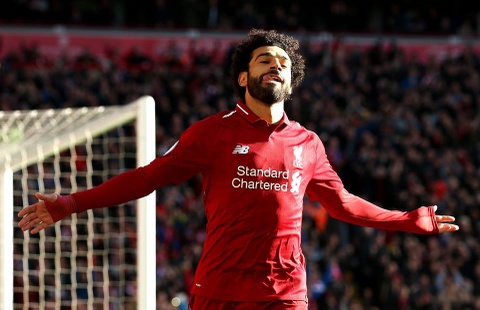 Salah no sung dua Liverpool len vi tri dan dau NHA hinh anh
