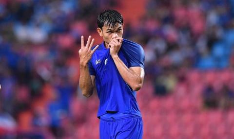 ĐT Thái Lan 4-2 Indonesia: Kraisorn ghi bàn thứ 7 sau 2 trận