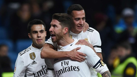 Ramos ghi ban thu 100 giup Real gianh chien thang truoc Leganes hinh anh