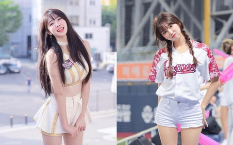 Ve dep goi cam cua cheerleader noi tieng nhat lang the thao Han Quoc hinh anh 8